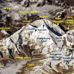 The Everest massif from the International Space Station (Photo: Oleg Artemyev)