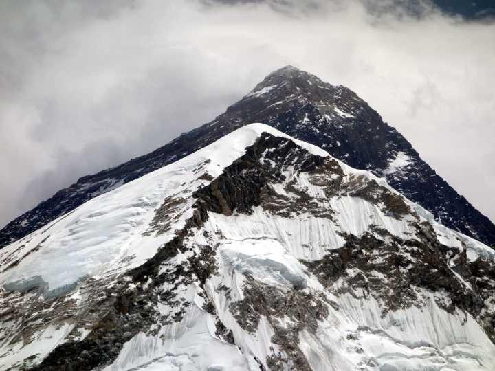 Everest peeps above the West Shoulder. This year it hides a not-so-secret secret.