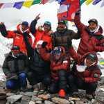 Nims Purja and his team of Sherpa climbers at K2 base camp (Photo: Nirmal Purja / Facebook)