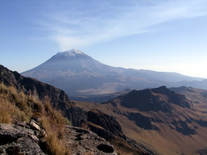 Popocatepetl (5452m) from the slopes of Iztaccihuatl