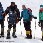 The successful Nanga Parbat summit team of Ali Sadpara, Alex Txikon, Simone Moro and Tamara Lunger (Photo: Alex Txikon)