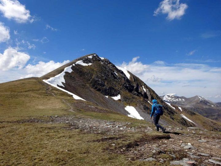 On the col between the two Munros, with Stob Coire Easain up ahead