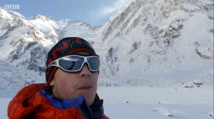 Tom Ballard surveys the route up Nanga Parbat (Photo: BBC iPlayer / The Last Mountain)
