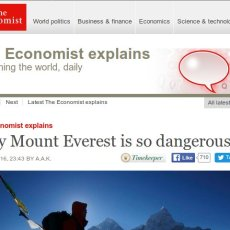Why The Economist thinks Mount Everest is so dangerous