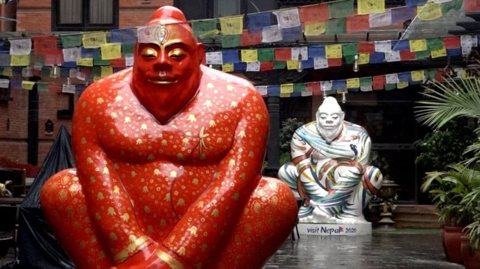 Yeti, meditating Buddha or sumo wrestler? No one's really sure (Photo: Kamal Pariyar / BBC)