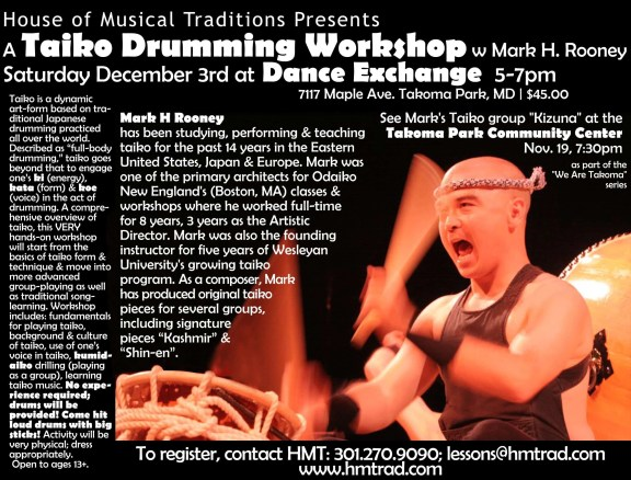 Mark H Taiko Workshop