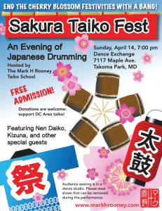 Sakura Taiko Fest