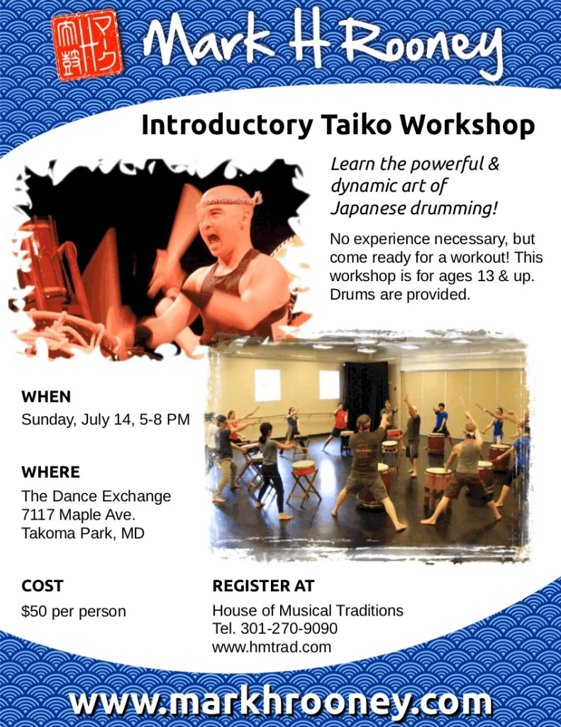 Introductory Taiko Workshop July 14