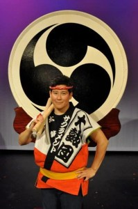 Tiffany Tamaribuchi with Odaiko