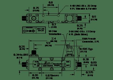 C16-1R718 Directional Coupler (Stripline)