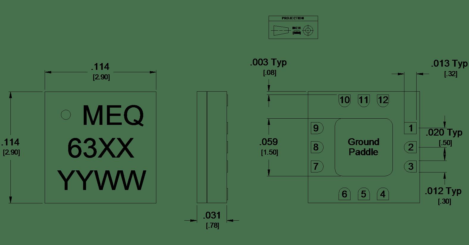MEQ3-7ASM Passive GaAs MMIC 7GHz Equalizer Family