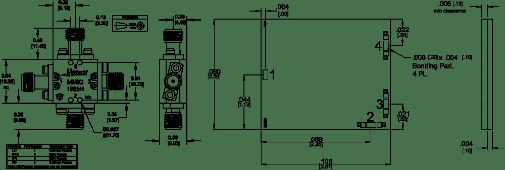 medium resolution of mmiq 1865h mixer package diagram