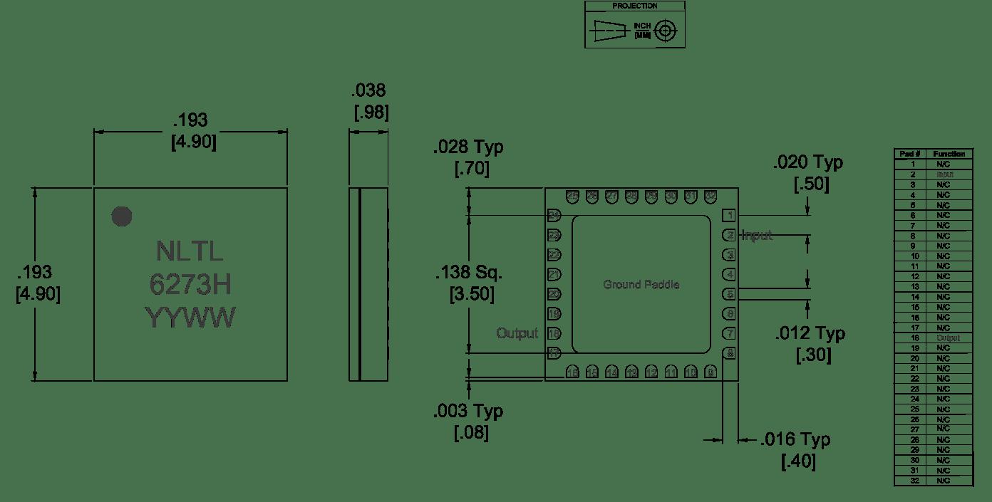 NLTL-6273SM GaAs MMIC Non-Linear Transmission Line