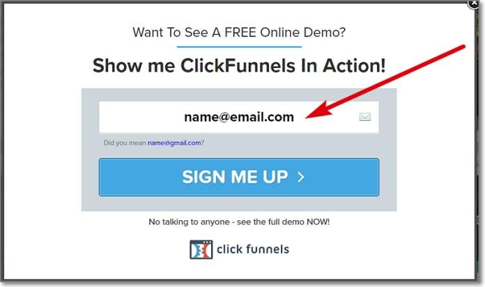 ClickFunnels Demo Registration
