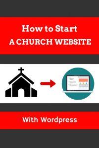 How to start a church website