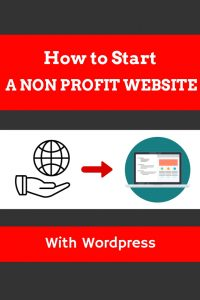 How to start a non profit website