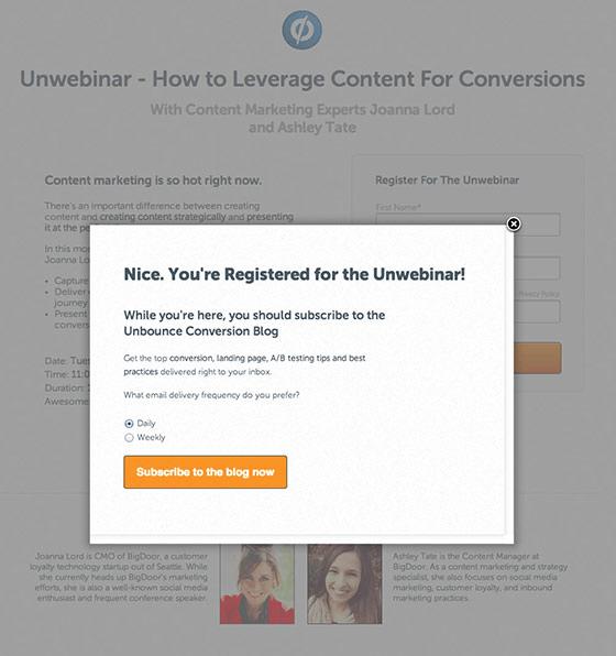 Post Conversion Marketing