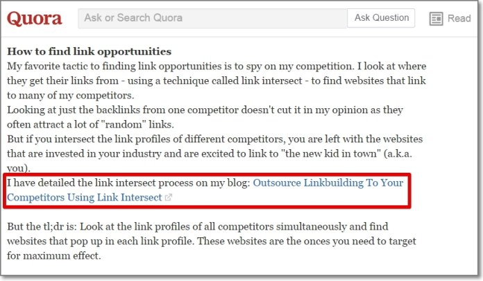Post Quora answers to those questions - with a link back to your article at the end