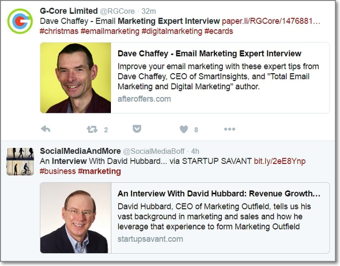 You should get a nice list of various articles with expert interviews