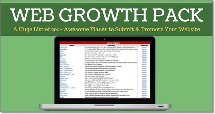 Please feel free to download my Web Growth Pack!