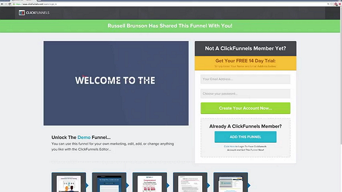 clickfunnels share funnel