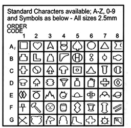 Symbol Stamps, Steel Hand Stamps, Steel Hand Punches