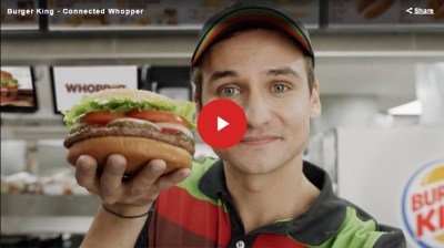 Burger King Connected Whopper screengrab