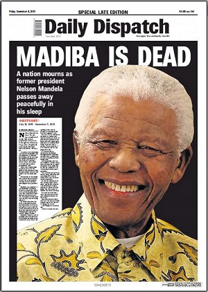 Daily Dispatch front page 6 December 2013 — Madiba