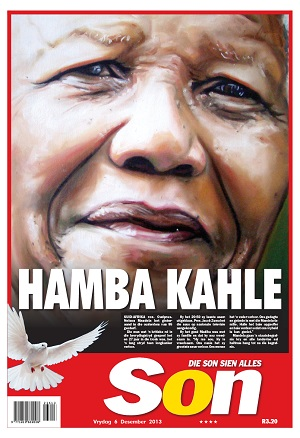 Die Son front page 6 December 2013 — Madiba