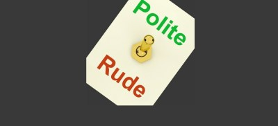 Polite Rude Lever Shows Manners and Disrespect by Stuart Miles courtesy of FreeDigitalPhotos.net amended for slider 3