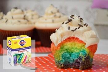 Snowflake Treats Rainbow Cake Kit. Credit: Facebook