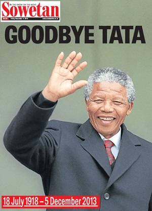 Sowetan front page 6 December 2013 — Madiba