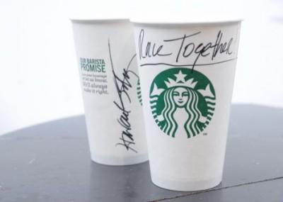Starbucks Coffee #RaceTogether. Pic: Starbucks.com