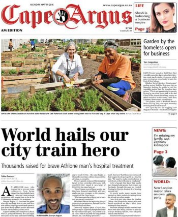 Cape Argus 9 May 2016