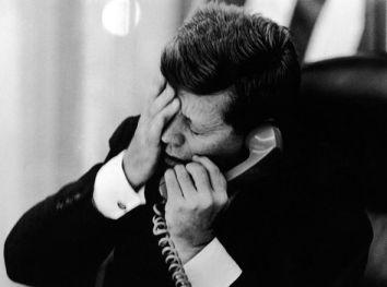 Jacques Lowe - JFK hears of Patrice Lumumba's assassination 1961