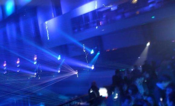 Tron Premiere Party Lights