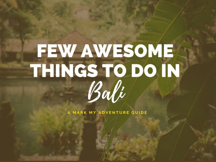 Things To Do In Bali Mark My Adventure