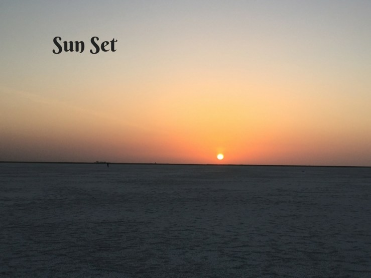 Sun Set Rann Of Kutch