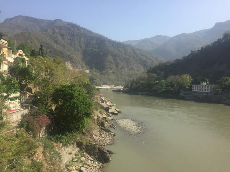 View From Lakshman Jhula Mark My Adventure