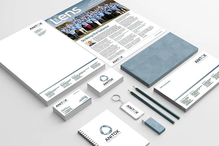 anitox business stationery