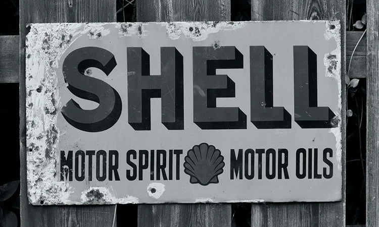 shell vintage sign