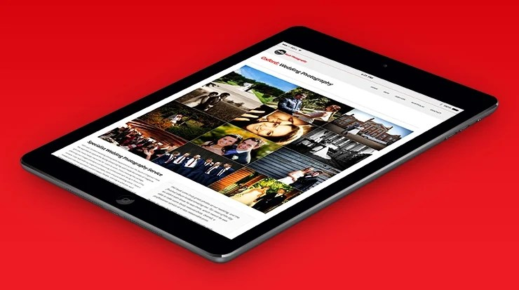 website design iPad view