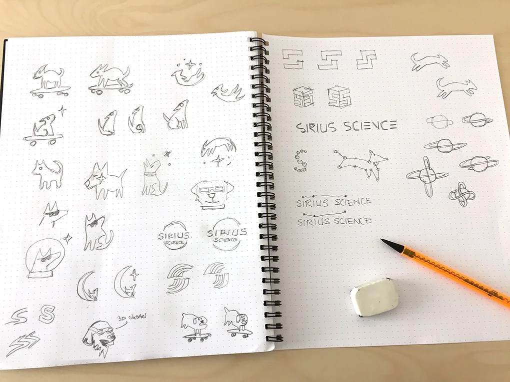 sirius science logo sketches large