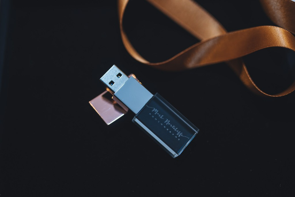 Personalised engraved USB