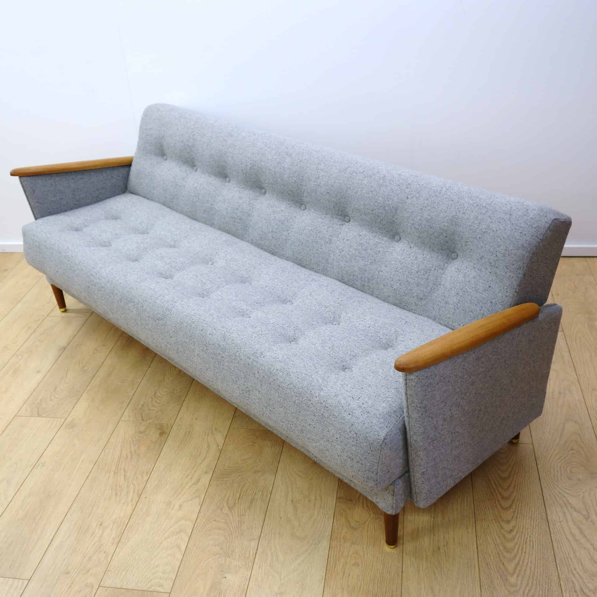 mid century modern light gray sofa avery manstad corner bed with storage ikea a grey mark parrish