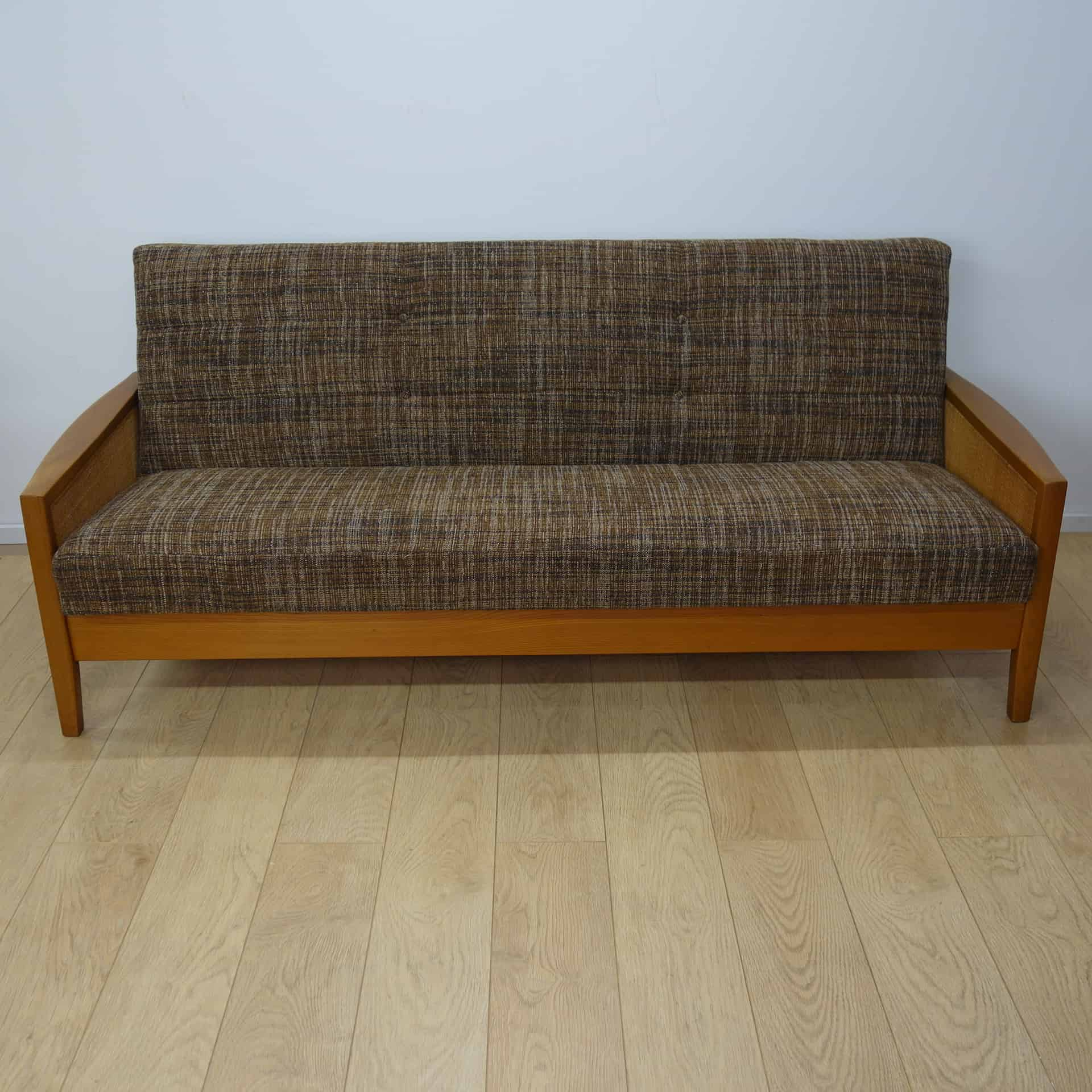 wicker sofa uk 2 seater beds argos 1960s bed with rattan sides mark parrish mid