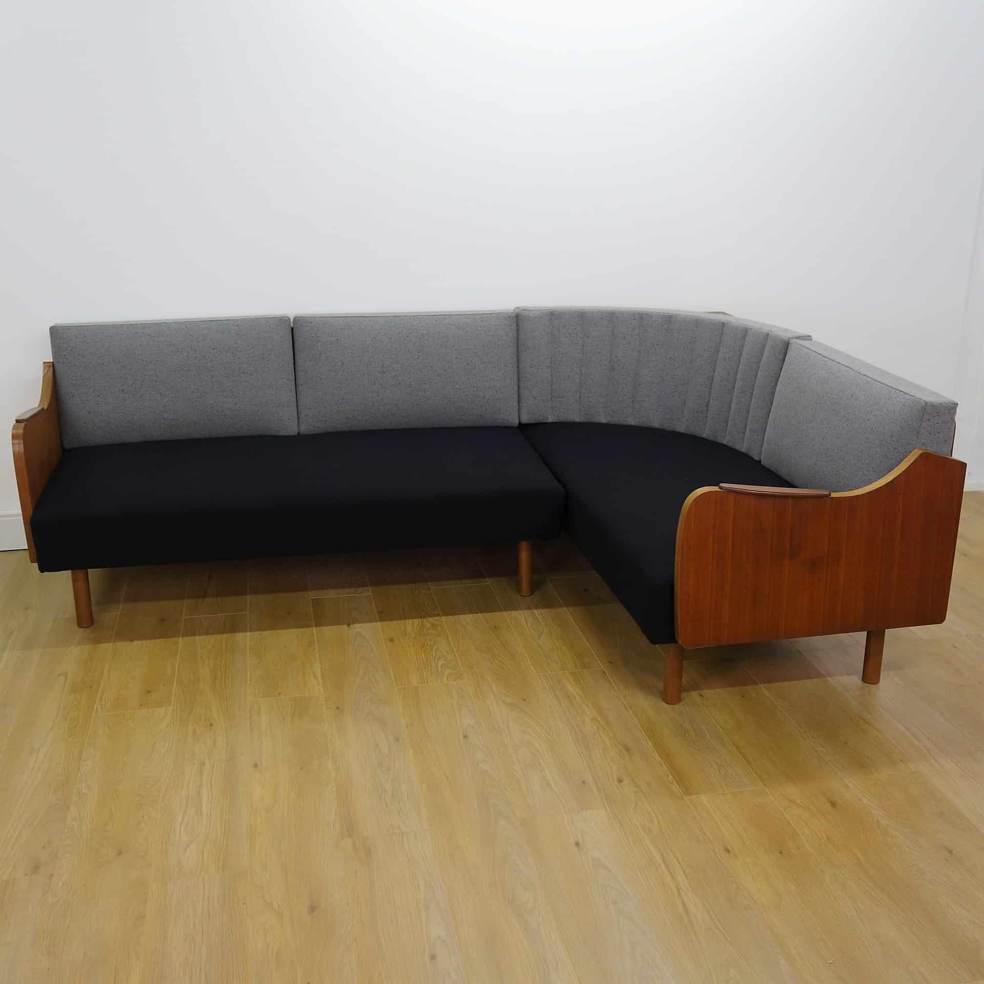 danish style sofa bed uk reupholster diy 1960s teak corner day mark parrish mid