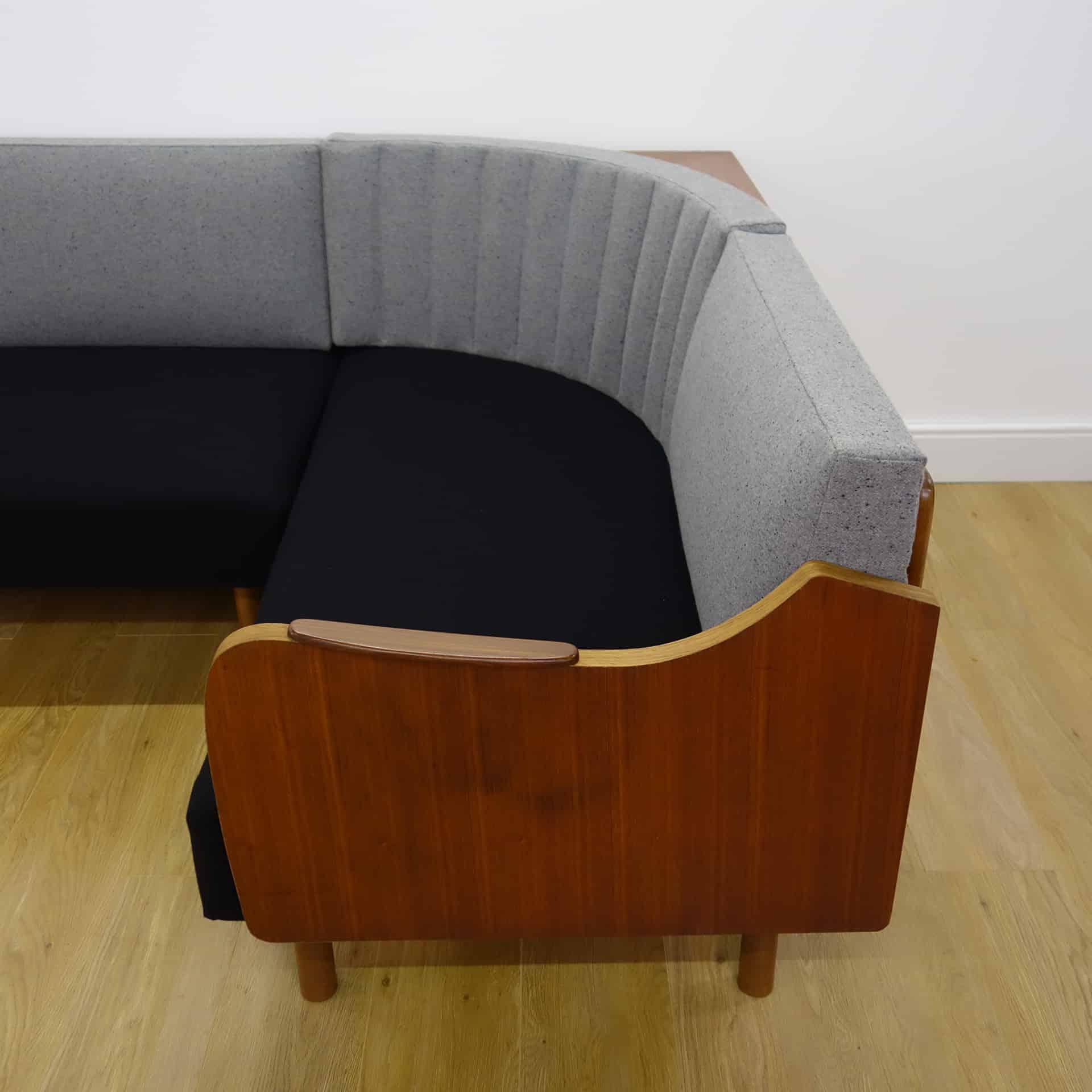 danish style sofa bed uk two cushion covers 1960s teak corner day mark parrish mid