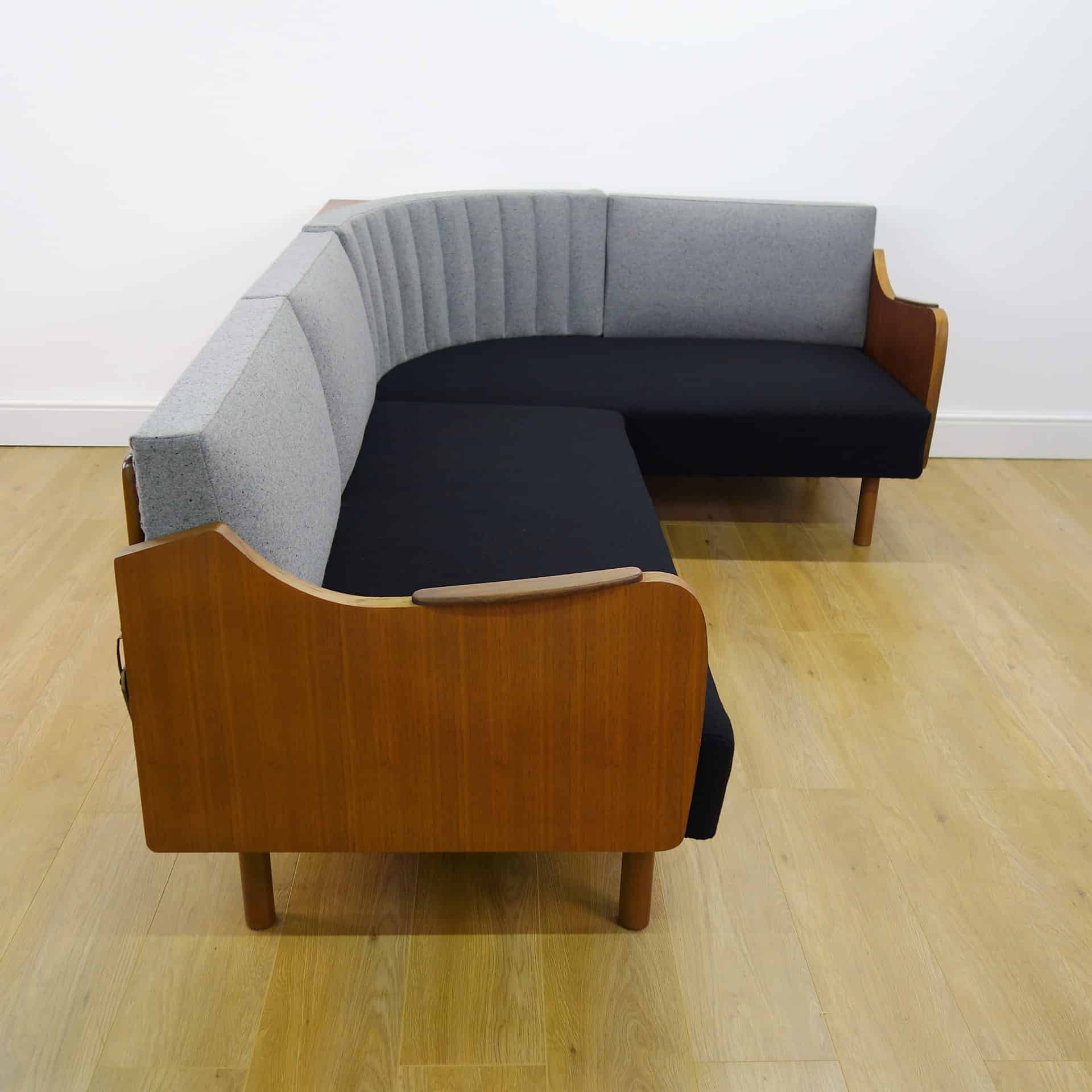 danish style sofa bed uk leather or fabric which is better 1960s teak corner day mark parrish mid