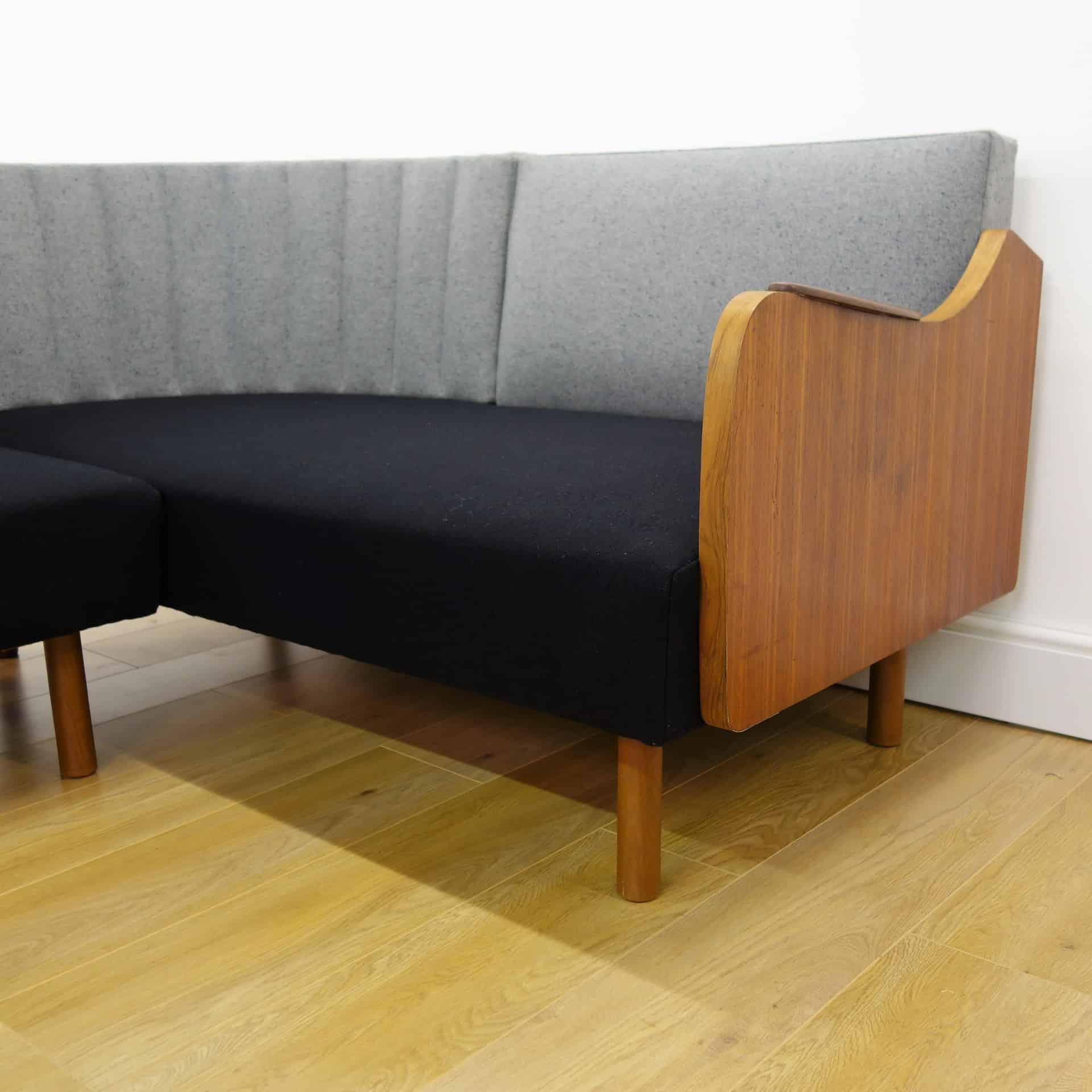 danish style sofa bed uk set cushion covers 1960s teak corner day mark parrish mid